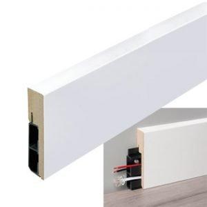 Stijlplint blok witfolie kabel